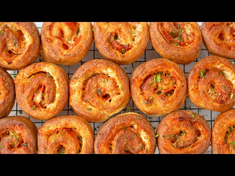 Keto Recipe - Pizza Scrolls / Roll Ups - Better than Fathead Dough - Tasty & Easy to Make (2g Carbs)
