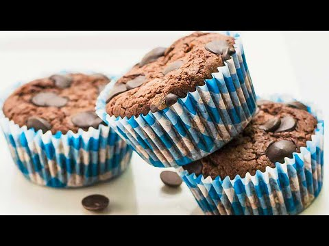 "Keto Recipe Chocolate Muffins - ""Double Choc Chip"" - Moist & Rich"
