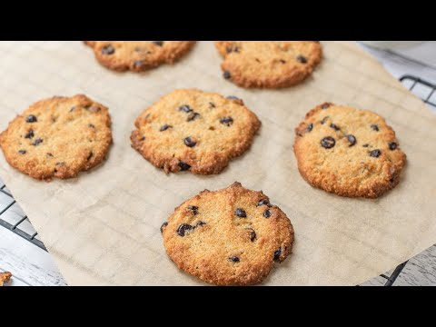Keto Chocolate Chip Cookies Recipe - Delicious Low Carb Choc Chip Snack (1g Net Carbs Per Cookie)
