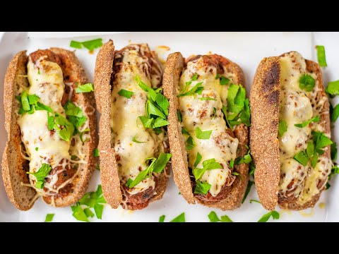 Keto Meatball Sub Recipe - How to Make Low Carb Subway Sandwich - Super Delicious Lunch (So Tasty)