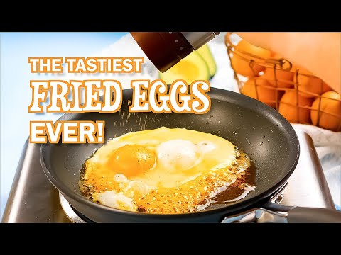 """Fried Eggs with Cheese Recipe - """"Tastiest Ever"""" (Super Easy)"""
