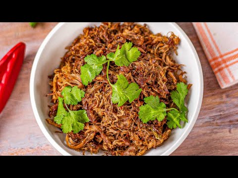 Easy Pulled Pork Instant Pot Recipe - Delicious Mexican Carnitas - Low Carb & Keto (1g Carbs)