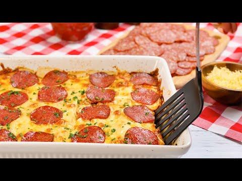 Keto Recipe - Pizza Bake Casserole - Chicken, Cheese & Pepperoni