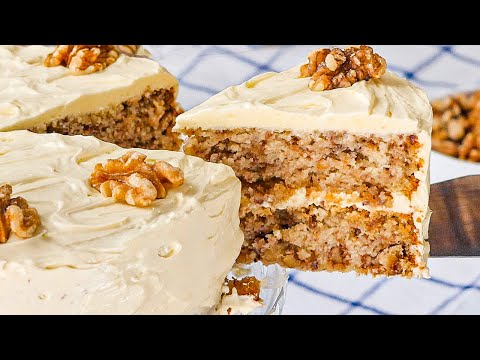 Sugar Free Walnut Cake Recipe - Easy To Make, Healthy & Delicious (Low Carb & Keto)