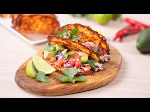 Keto Taco Shells Recipe - How To Make Low Carb Cheese Tacos (Easy 1 Ingredient)