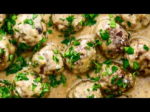 "Keto Recipe - Swedish Meatballs A ""Creamy & Meaty"" Low-Carb Ground Beef Dish"