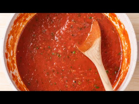 Keto Pizza Sauce Recipe - Easy Low Carb Marinara - Great with Pasta, Meat & Veges Also (2g Carbs)