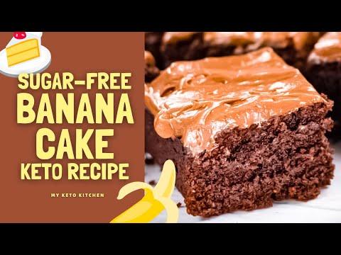 "Sugar Free Chocolate Banana Cake Recipe - Keto & Low Carb - ""Happy New Year"""