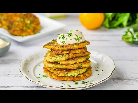 Keto Recipe - Zucchini Fritters - Low-Carb & Super Easy to Make (2 Carbs)