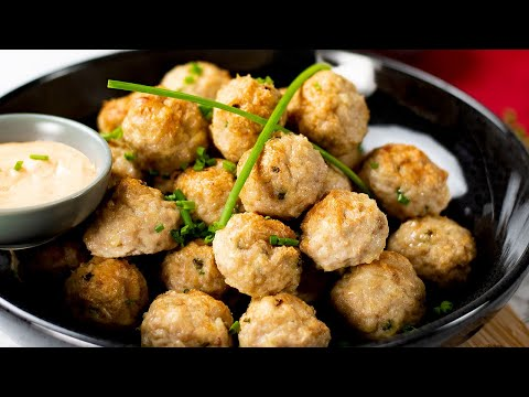 Keto Chicken Meatballs Recipe with Cheddar Cheese - Very Tasty & Low Carb ( Under 1g Net Carbs )
