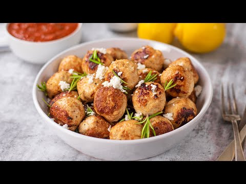Keto Recipe - Chicken & Feta Cheese Meatballs - Low Carb & Easy to Make (1g Carbs)