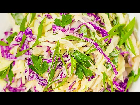 Best Keto Coleslaw & Dressing Recipe - How to Make this Simple Low Carb Salad in Minutes (Easy)