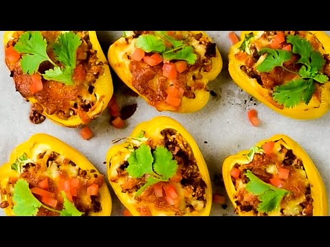 Keto Stuffed Peppers Recipe with Ground Beef & Cheese - Delicious Mexican on a Budget (Easy)