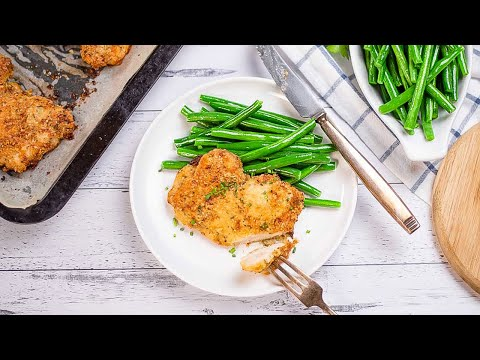 Keto Baked Breaded Chicken Recipe - 5 Ingredients (2g Carbs)