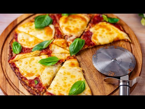 Keto Cauliflower Pizza Base - Low Carb Crispy Base - Easy to Make at Home