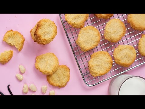Easy Keto Shortbread Cookies Recipe - Low Carb Vanilla Flavored Snacks - (1g Net Carb)