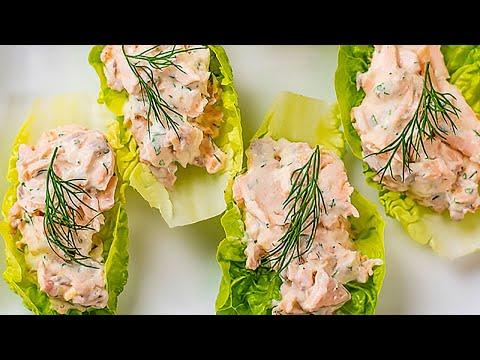 Keto Salmon Lettuce Wraps Recipe - Healthy Omega Fats - Creamy & Delicious