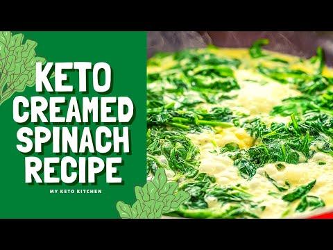 Keto Recipe Creamed Spinach | Super Nutritious & Very Tasty