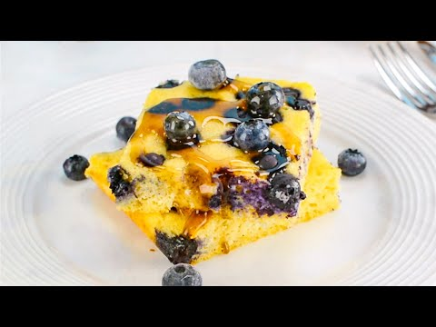 Keto Sheet Pan Pancakes Recipe - Delicious Low-Carb Breakfast or Dessert Only 2g Net Carbs (Easy)