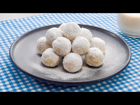 "Keto Recipe - Snowball Cookies No Bake ""Sweet & Chewy Fat Bombs"" - Gluten Free Also"