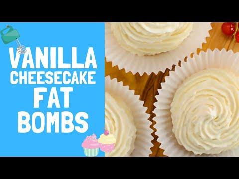 "Cheesecake Fat Bombs Recipe - Creamy Vanilla - ""Easy to Make Keto Snack"""