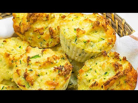 Keto Muffins Recipe - Cheese & Zucchini (Delicious Low-Carb Savory Snack)