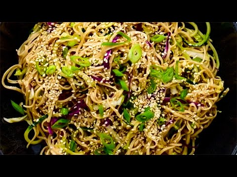 Keto Asian Noodle Salad Recipe - Low-Carb Shirataki - Vegan & Vegetarian (Very Easy)
