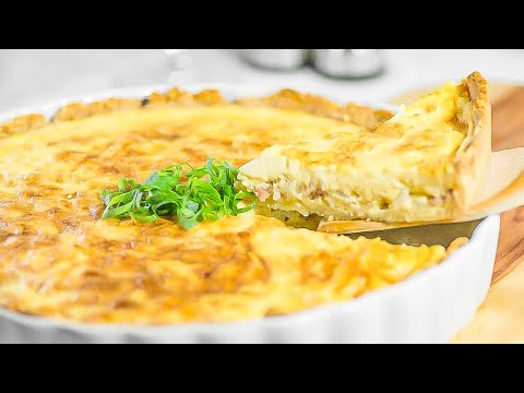 Keto Recipe Quiche Lorraine - (With a Tasty Low-Carb Crust for Crunch)