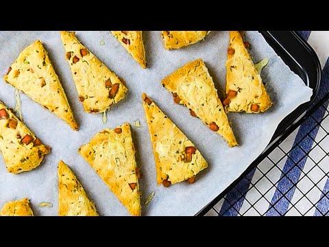Keto Breakfast Scones Recipe - Ham & Cheese - Freshly Baked & Easy to Make (2g Net Carbs)
