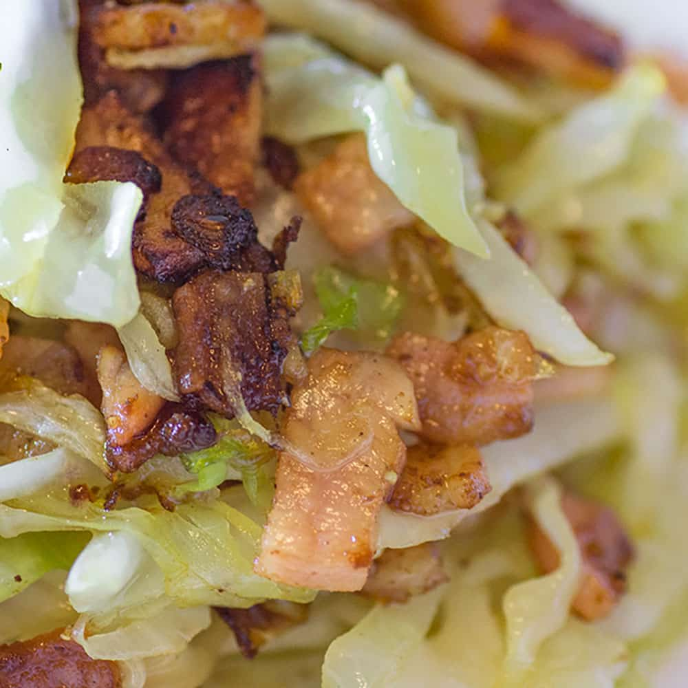 How to make Low Carb Buttery Bacon Cabbage Stir Fry