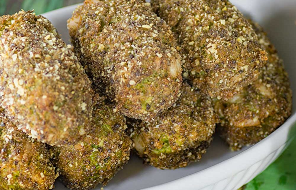 Low Carb Broccoli and Bacon Croquettes