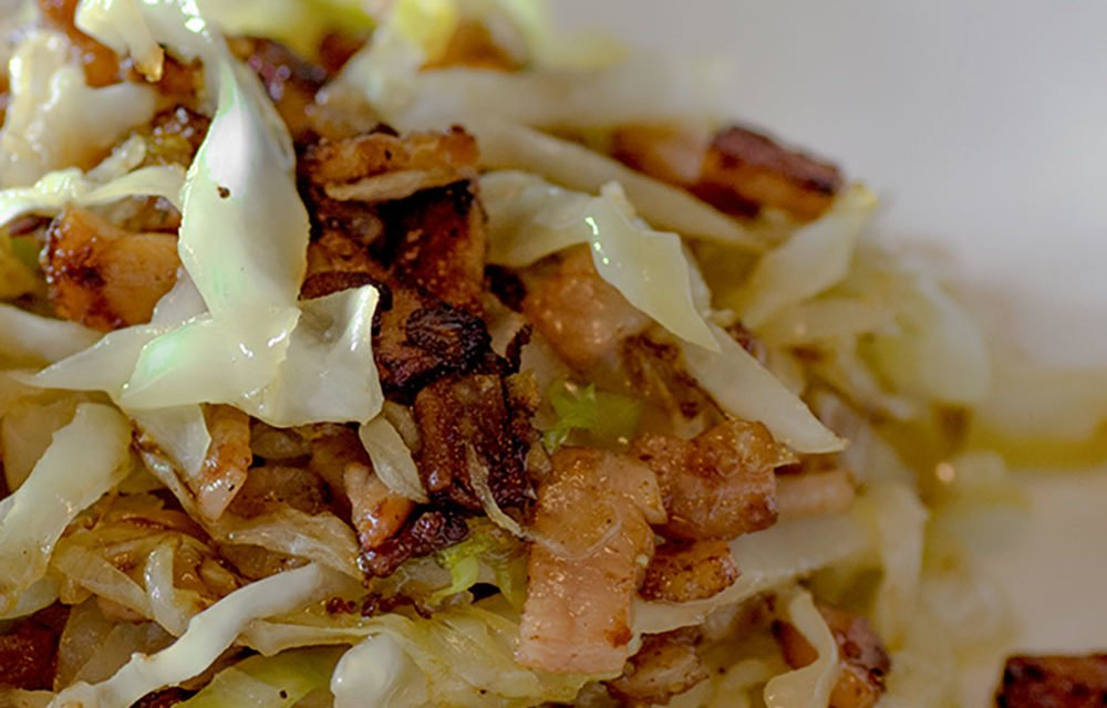 Low Carb Buttery Bacon and Cabbage Stir Fry