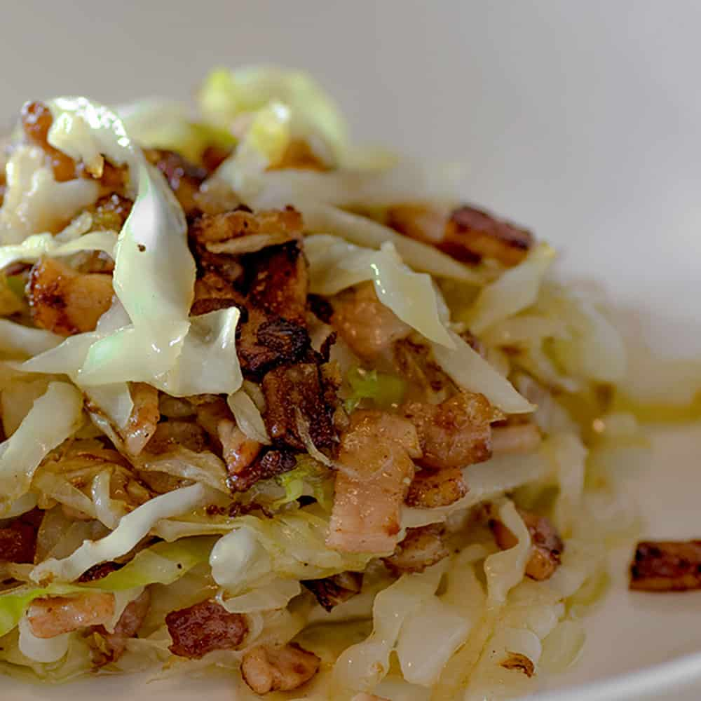 Low Carb Buttery Bacon Cabbage Stir Fry