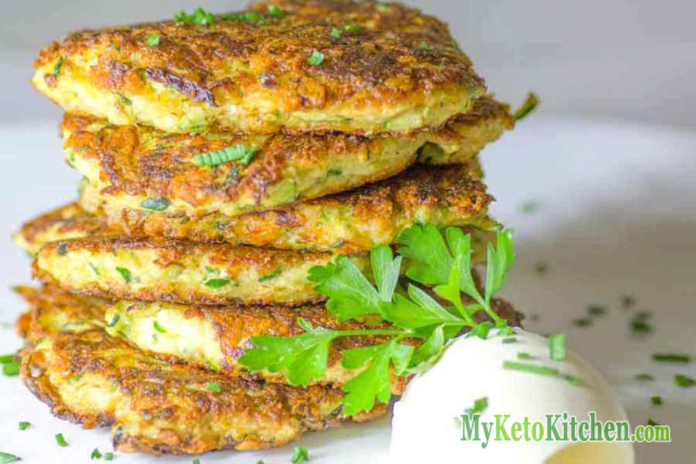Keto Zucchini Fritters Recipe with Parmesan