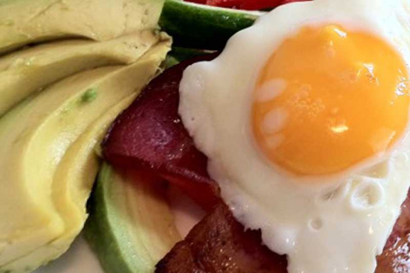 Ketogenic Fast Food Breakfast options bacon and eggs