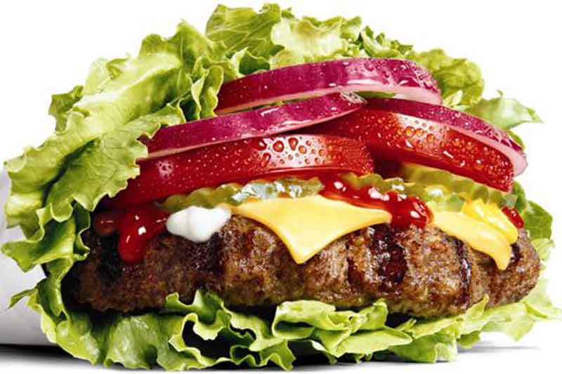 low carb burger hetogenic fast food option