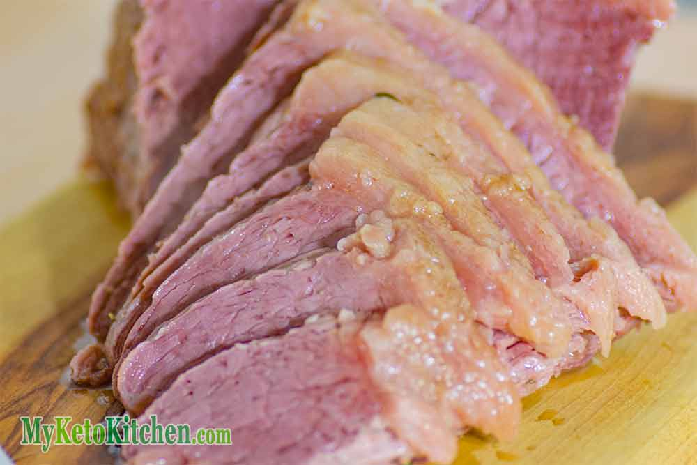 Pressure Cooker Corned Beef Sliced