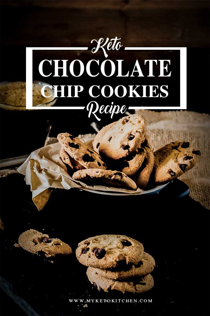 keto chocolate chip cookies recipe pin