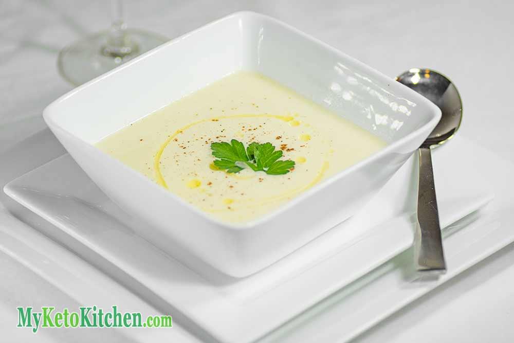 Low Carb Creamy Cauliflower Soup My Keto Kitchen