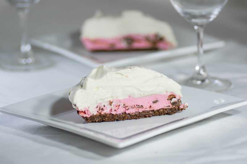 Keto Raspberry Chocolate Cream Pie