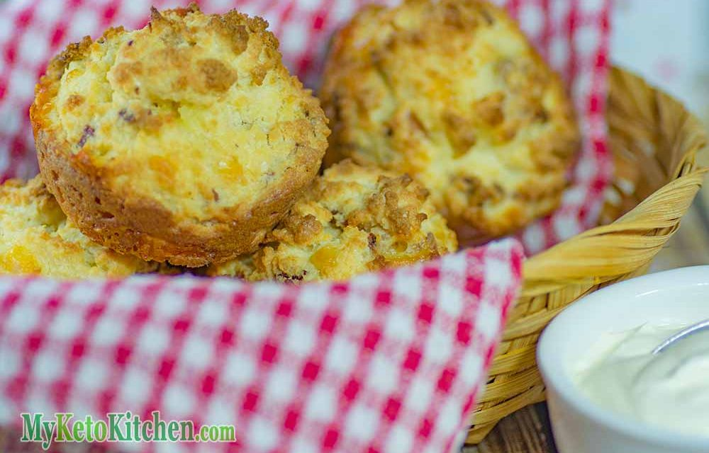 Low Carb Muffins Recipe – Bacon and Sour Cream