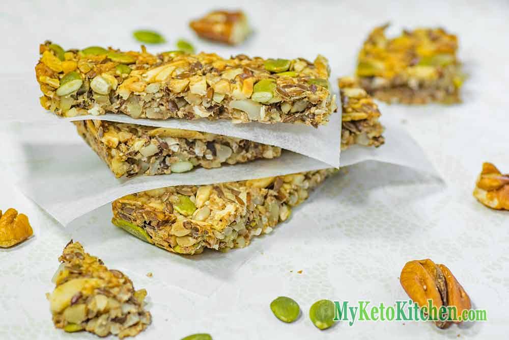 Ketogenic Low Carb Granola Bars Snacks | My Keto Kitchen