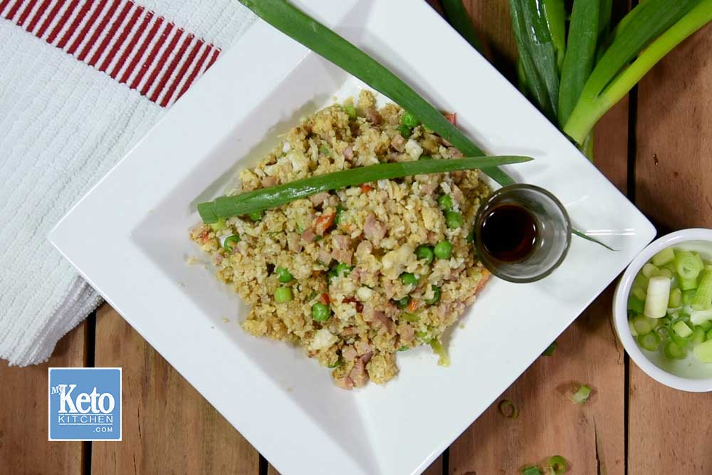 How to Cook Low Carb Fried Rice with Cauliflower, Ketogenic Recipe.
