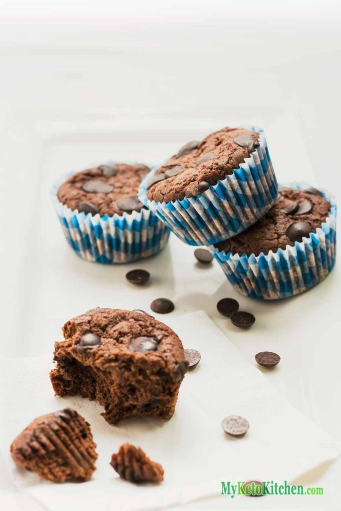 Double Keto Chocolate Muffins