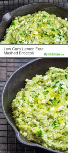 Low Carb Lemon Feta Mashed Broccoli