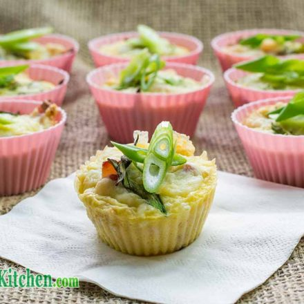 Low Carb Cheese and Bacon Egg Muffins Breakfast Recipe