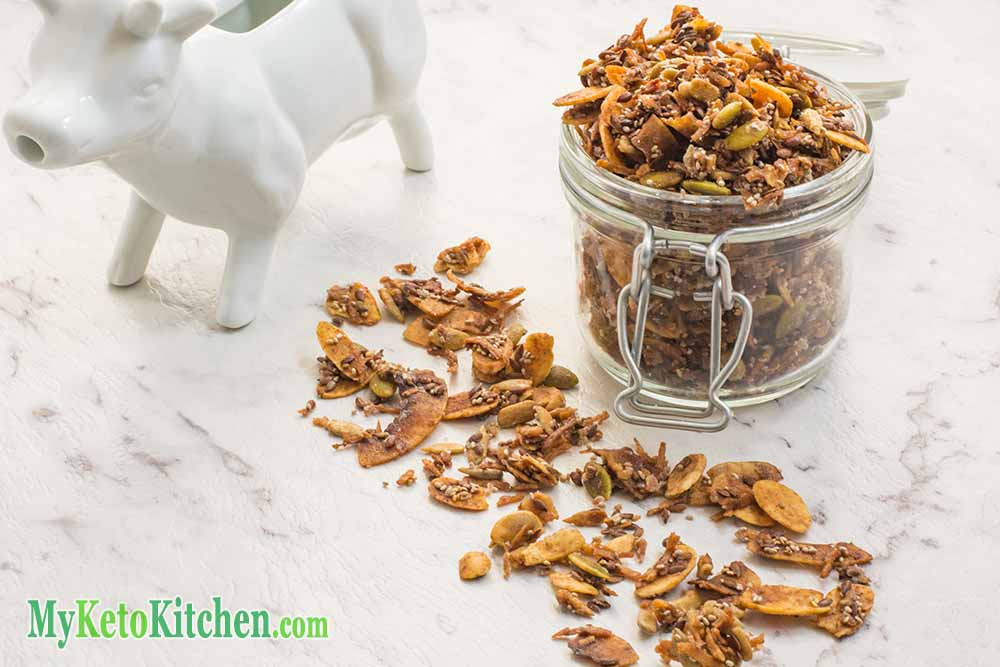 ULTRA Low-Carb Cinnamon Keto Cereal - EASY to make Ketogenic Breakfast