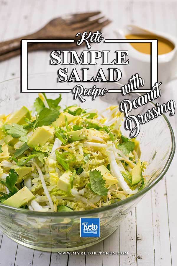 Asian Style Cabbage Salad. This simple recipe makes a great salad suitable for vegans and also those on the keto and paleo diets. It's a yummy healthy salad!