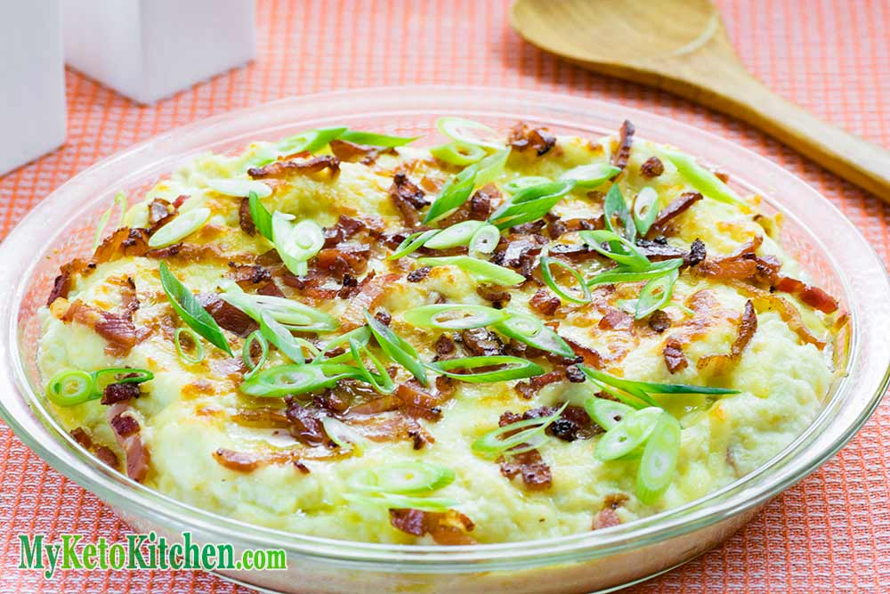 EASY Low Carb Cheese & Bacon Cauliflower Casserole Recipe Step by Step ...