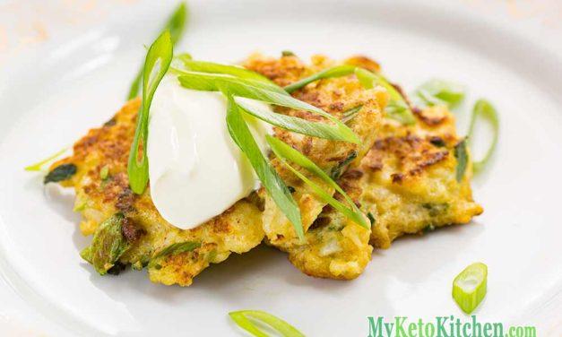 Low Carb Latkes – Keto Cauliflower Pancakes Recipe